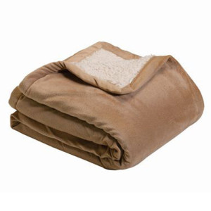 brown sherpa blanket